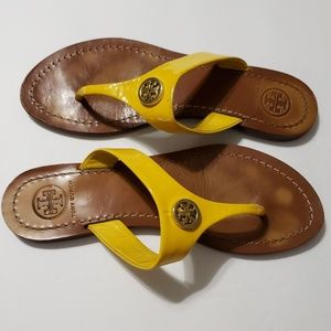 Tory Burch Yellow Thong Sandal Size 6